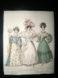 World of Fashion 1829 Hand Col Fashion Print 12